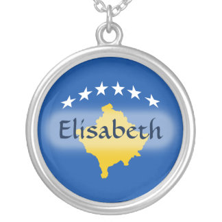 Kosovo Flag + Name Necklace