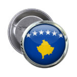 Kosovo Flag Round Glass Ball 6 Cm Round Badge