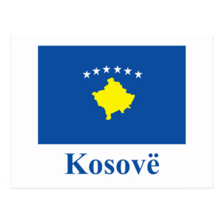 Kosovo Flag with Name in Albanian Postcard