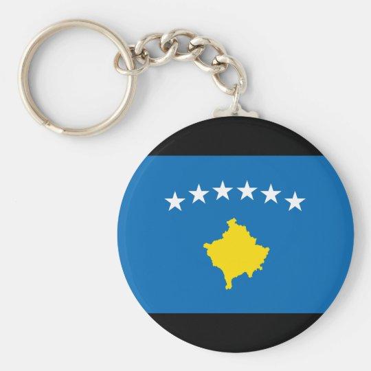 Kosovo Islands Flag Basic Round Button Key Ring