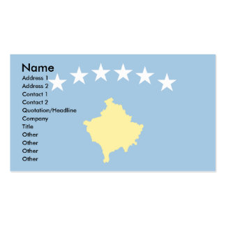 Kosovo Islands Flag Pack Of Standard Business Cards