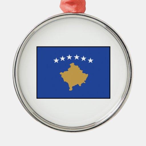 Kosovo – Kosovar Flag Christmas Tree Ornaments