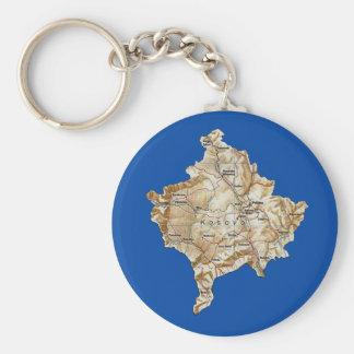 Kosovo Map Keychain