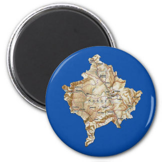 Kosovo Map Magnet