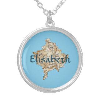 Kosovo Map + Name Necklace