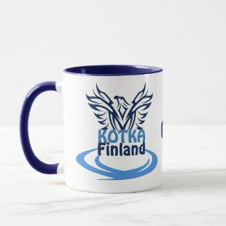 Kotka Finland custom monogram mugs