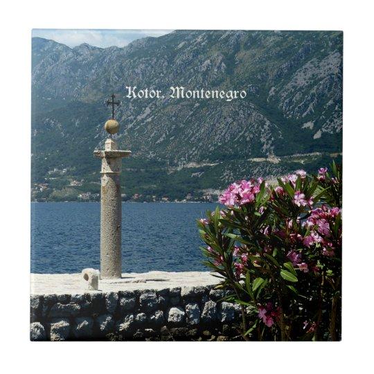 Kotor, Montenegro Small Square Tile