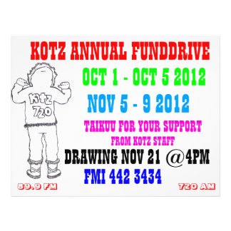 kotzradio fundrive 21.5 cm x 28 cm flyer