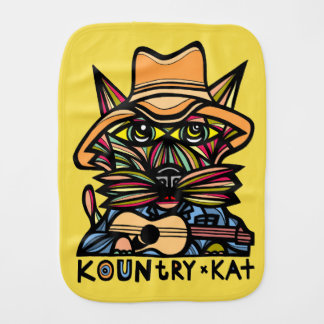 """Kountry Kat"" Burp Cloth"