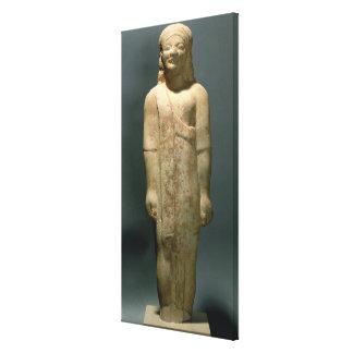 Kouros Dionysermos, Greek, Archaic Period, c.600 B Stretched Canvas Print