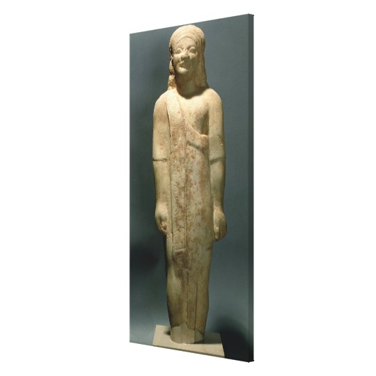 Kouros Dionysermos, Greek, Archaic Period, c.600 B Canvas Print