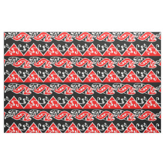 Kowhaiwhai Traditional Maori Koru Pattern Fabric