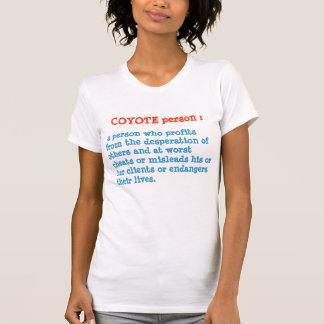 KOYOTE person : ANIMAL Behaviour Tee Shirts