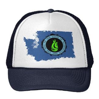 KP Neon Washington State Trucker Cap
