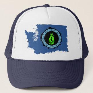 KP Neon Washington State Trucker Trucker Hat