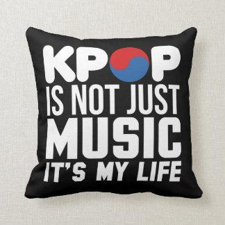 Kpop Is My Life Slogan Graphics (dark) Throw Pillow