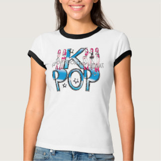 KPOP TOOK MY HEART  Ladies Ringer T-Shirt