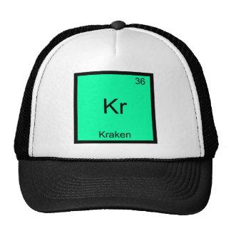 Kr - Kraken Funny Chemistry Element Symbol T-Shirt Cap