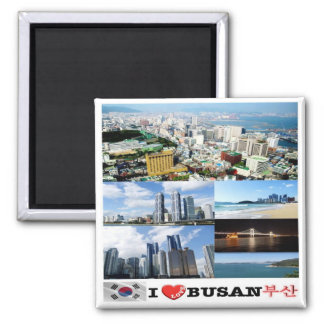 KR - South Korea - Busan - I Love - Collage Magnet