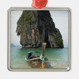 Krabi beach, Thailand 3 Silver-Colored Square Decoration