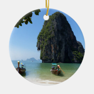 Krabi beach, Thailand. Christmas Ornament