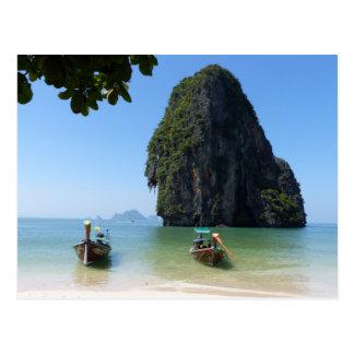 Krabi beach, Thailand. Postcard