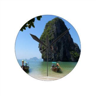 Krabi beach, Thailand. Round Clock