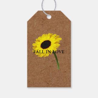 Kraft Autumn Bride Sunflower Party Gift Tags