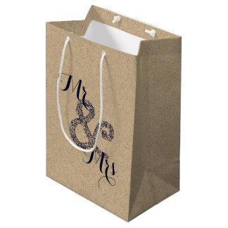 Kraft Autumn Wedding Mr And Mrs Party Gift Bag