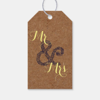 Kraft Autumn Wedding  Mr And Mrs Party Gift Tags