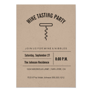 Kraft Collection Wine Tasting Invitation