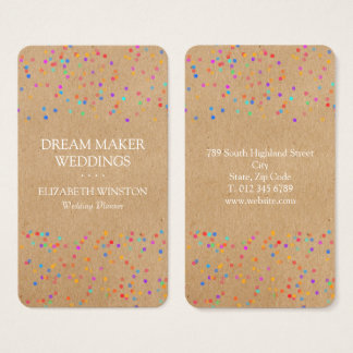 Kraft Confetti Business Card