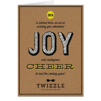 Kraft Contagious Cheer Joy Corporate Holiday Card