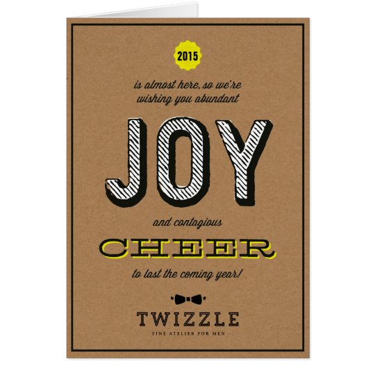 Kraft Contagious Cheer Joy Corporate Holiday Card