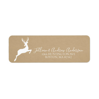 Kraft Deer Address Label
