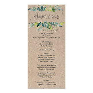 Kraft Foliage Dinner Menu Card