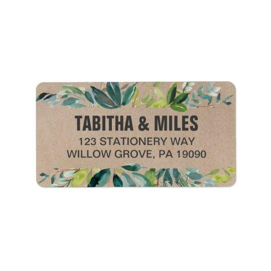 Kraft Foliage Wedding Label