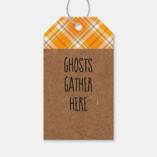 Kraft Ghosts Gather Here Halloween Party Gift Tags