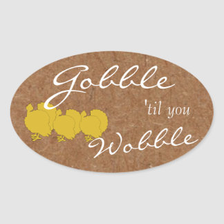 Kraft Gobble & Wobble Thanksgiving Party Stickers