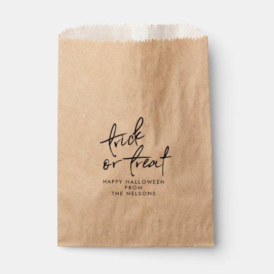 Kraft Halloween Favour Bag | Halloween Treat Bag