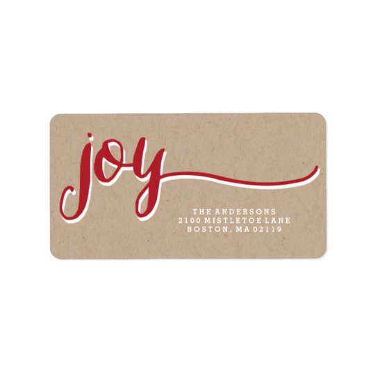 Kraft Joy | Holiday Address Labels