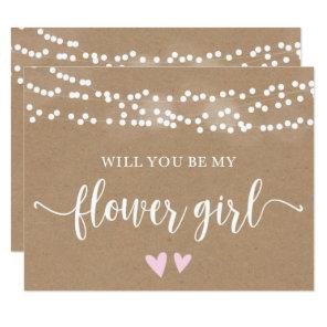 Kraft Lights Will You Be My Flower Girl Card