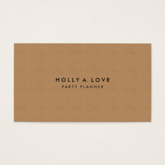 Kraft Paper #2 | Faux Paper Texture | Customizable Business Card