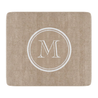 Kraft Paper Background Monogram Cutting Board