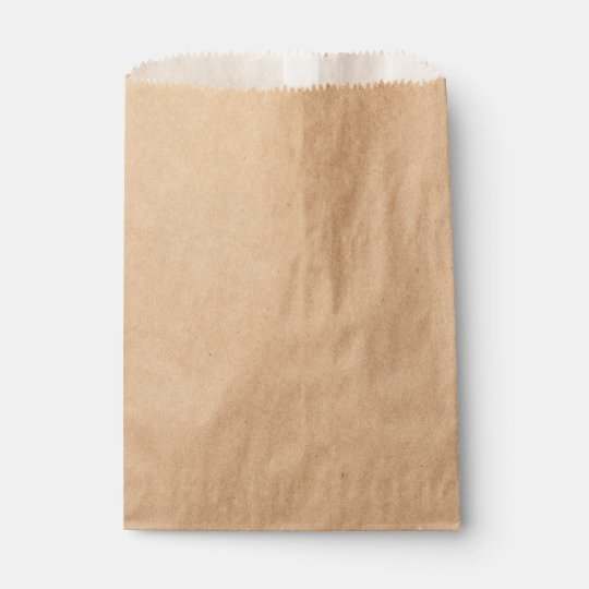 Custom Kraft Favor Bag