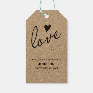 Kraft Paper Favor Tags - Love