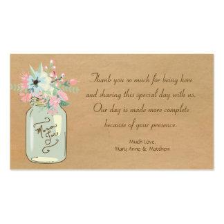 Kraft Paper Look Rustic Mason Jar Modern Floral Business Cards