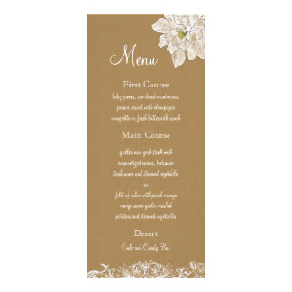 Kraft Paper Wedding : Menu Cards 10 Cm X 23 Cm Rack Card