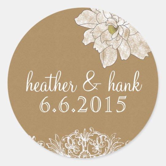 Kraft Paper Wedding : Stickers