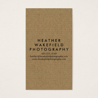 Kraft & Photo Calling Card